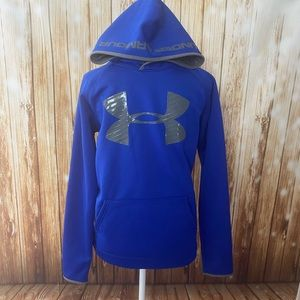 Under Armour blue hoodie gray loose cold gear